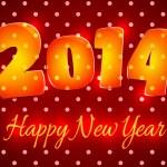 cartão de feliz ano novo 2014 — Vetorial Stock