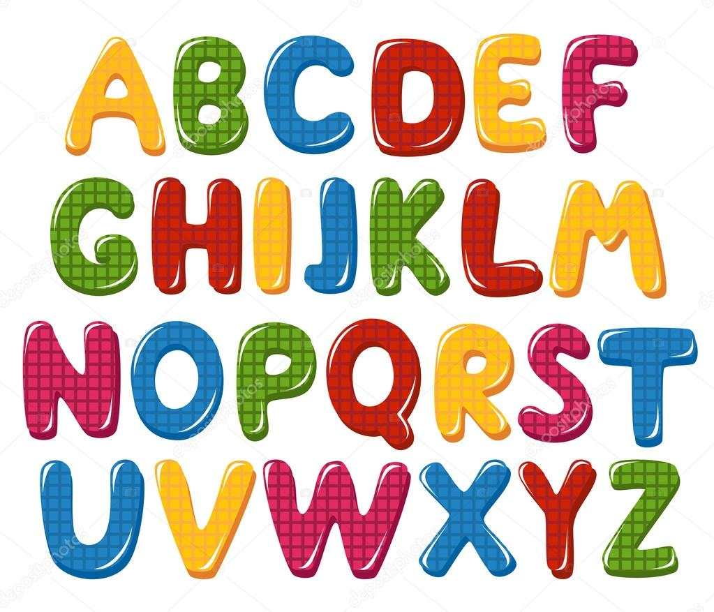 Checked Alphabet Letters