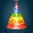 Stock Vector: Confetti Christmas tree