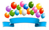 Banner with balloons — Stock Vector