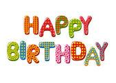 Happy Birthday letters — Stock Vector