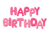 Happy Birthday letters in pink — Stock vektor