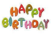 Letras de feliz cumpleaños — Vector de stock