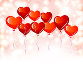 红色心形气球 — 图库矢量图片
