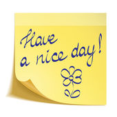Have a nice day note — Stock Vector