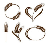 Set of abstract wheat ears icons — Stock Vector