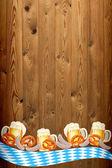 Oktoberfest transparent na stare drewniane tekstury — Zdjęcie stockowe