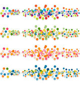 Set of abstract confetti-banners — Stock Vector