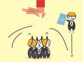 конкурс бизнес — Cтоковый вектор