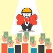 Excellent Business Man — Cтоковый вектор