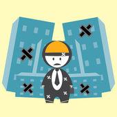 Bankrupt businesses — Stock Vector
