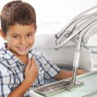 Little boy in dentist office — Stock Photo #20063489