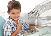 Little boy in dentist office — Stock Photo
