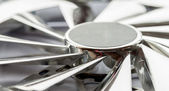 Silver computer fan. — Stock Photo