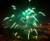 Green firework. — Stock Photo