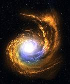 Galaxie spirale dans l'espace lointain. — Photo
