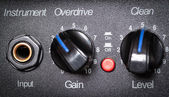 Guitar amplifier control panel. — Foto Stock
