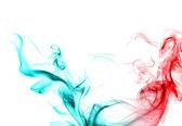 Röd och blå rök. — Stockfoto