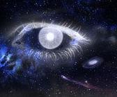 眼睛和宇宙. — 图库照片