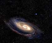Spiral galaxy in deep space. — 图库照片
