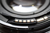 Camera lens contacts. — Stock Photo