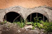 Sewer holes. — Stock Photo