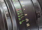 Lens of old SLR camera. — Stock Photo
