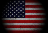 US Flag with spot light. — Stock Photo