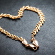Heart shaped gold chain. — Stock Photo #28671171