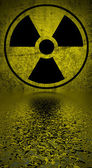 Radiation hazard symbol. — Stock Photo