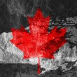 Stock Photo: Canadian Flag and map.