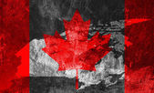 Canadian Flag and map. — Stock Photo