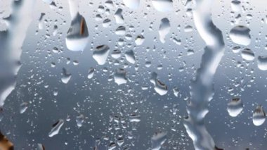 Water drops on glass. — Stock Video