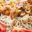 Spaghetti with chicken. — Stock Photo #29598007
