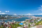 Vladivostok cityscape daylight view. — Stock Photo