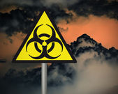 Biohazard warning sign. — Stock Photo