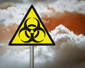Biologické nebezpečí varování. — Stock fotografie