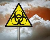 Segnale di avvertimento di rischio biologico. — Foto Stock