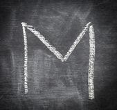 M - letter. — Stock Photo