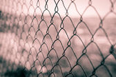 Metal fence. — Stock Photo