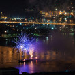 Stock Photo: International Fireworks Festival in Vladivostok.