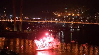 International Fireworks Festival in Vladivostok. — Stock Video