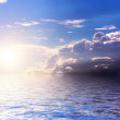 Sunset reflected in water. — Stock Photo
