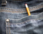 Jeans pocket with pencil. — Stock Photo