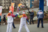 The Olympic Torch Relay. — Стоковое фото