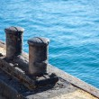 Ships mooring bollard. — Stock Photo