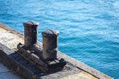 Ships mooring bollard. — Stockfoto