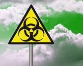 Panneau d'avertissement biohazard. — Photo