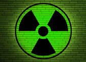 Radiation sign on a wall. — Stock Photo