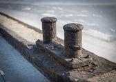 Ships mooring bollard. — Stock Photo